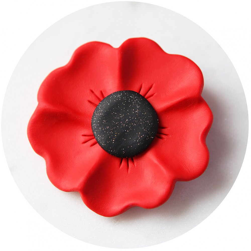 red poppy brooch rememberance day anzac Next Romance jewellery vicki leigh melbourne australian design Just beautiful thank you! Even better than pictured if that's possible.