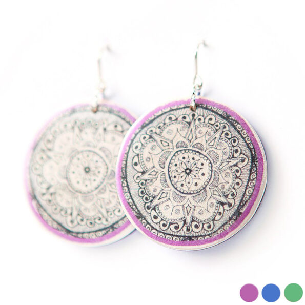 lilac henna mandala earrings-next-romance-jewels-australia