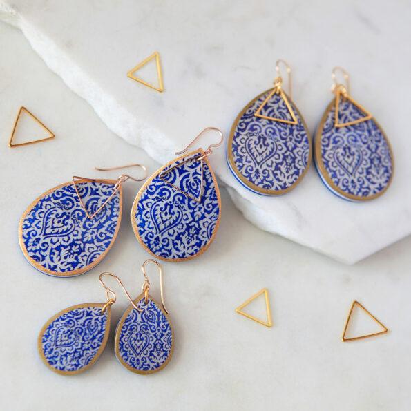 morocco teardrop art earring wedding bridesmaid earrings necklace NEXT ROMANCE Jewellery