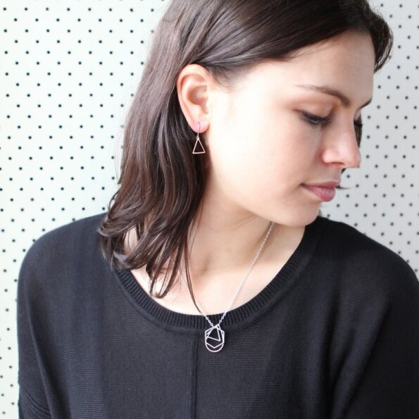 geo minimal triangle earrings new next romance jewellery made in australia gifts for mum girlfriends