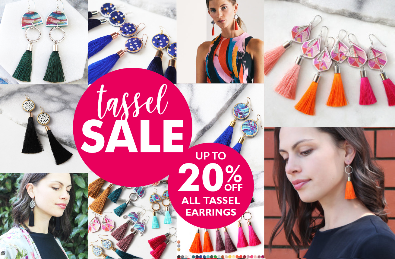 tassel earrings sale iPHONE header NEXT ROMANCE banner-1600×678