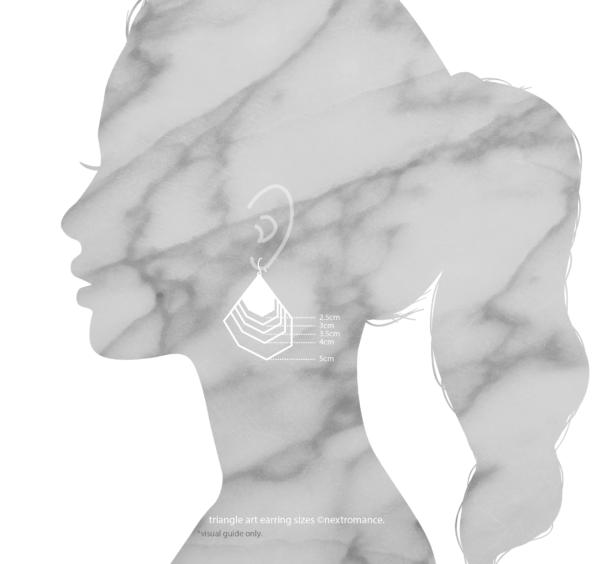 triangle 2021 earring sizes model silouhette next romance jewellery australia