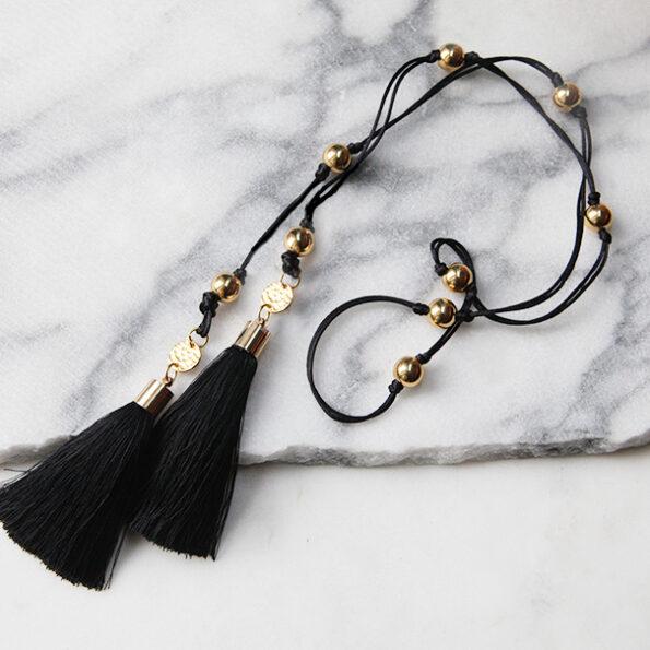 gold lariat tassel necklace next romance made in melbourne australin design