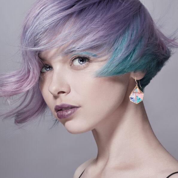 peach triangle ROSE snowflake next romance jewellery australian made model
