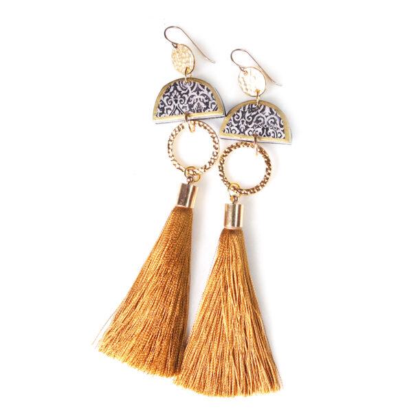 Limitless LUXE unique boho art tassel earrings NEXT ROMANCE jewellery australia