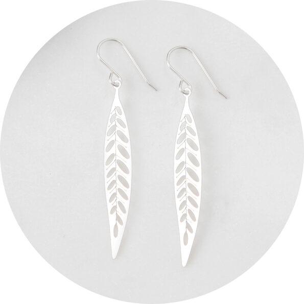 lazercut leaf steel earring design NEXT ROMANCE jewellery australia