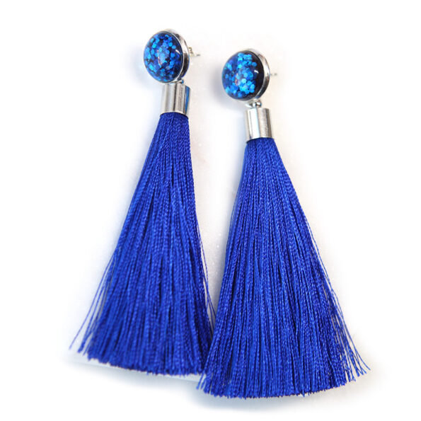 stud glitter tassel earrings next romance fun unique funky earrings