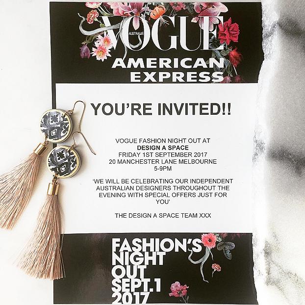 MFW VFNO invite event fashion night out Design a Space