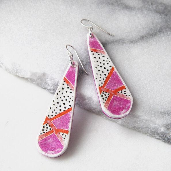 PICTOR long drop art earrings DEVOI x Next Romance Jewellery