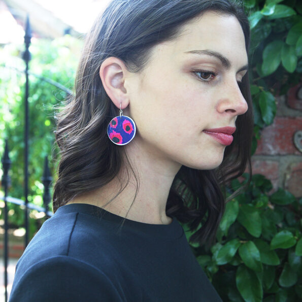 VELA circle art earrings - Next Romance X DEVOI large NEXT ROMANCE jewellery unique