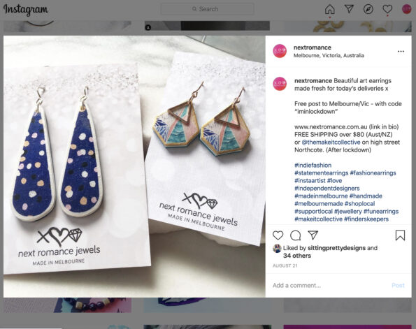 long devoi navy polka teardrop earrings next romance jewellery polyresin polymer resin art earrings handmade in australia