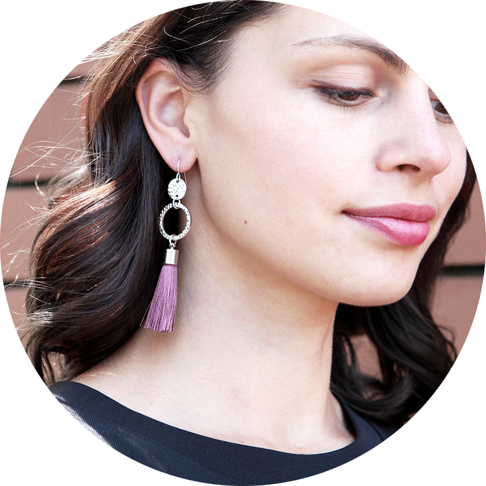 New tassel earrings next romance pink Melissa Leong style Melbourne Australian designer Beautiful earrings and I immediately received many compliments! The tassel is soft and smooth, unlike most sold at retail stores.
