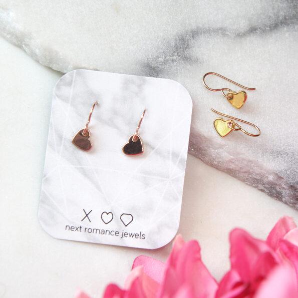 heart dangle earrings drop hooks next romance jewellery melbourne