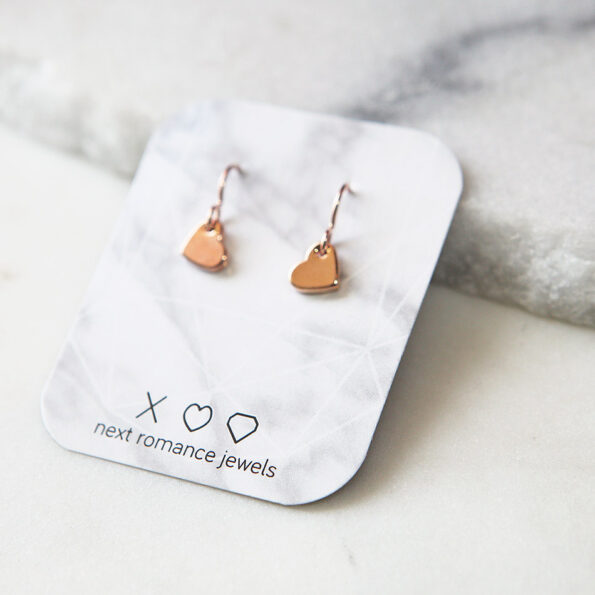 heart modern earrings rose gold next romance jewellery australia