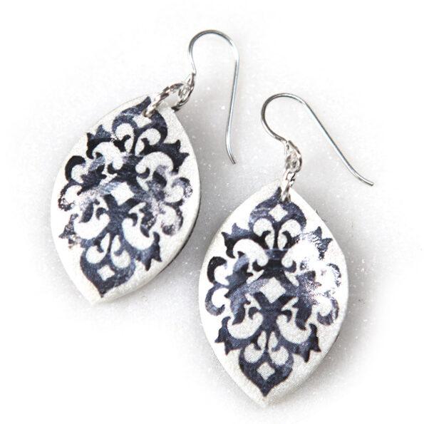black art baroque earrings style races modern contemporary Next Romance jewellery melbourne