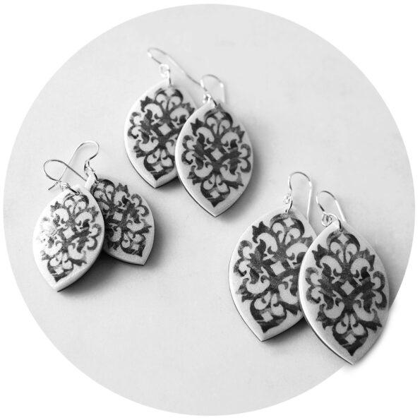 black boho baroque unique original design earrings australia next romance