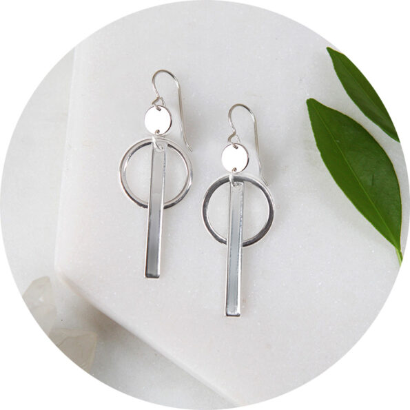 small hoop bar coin earrings next romance groovy funky earrings modern unique australia