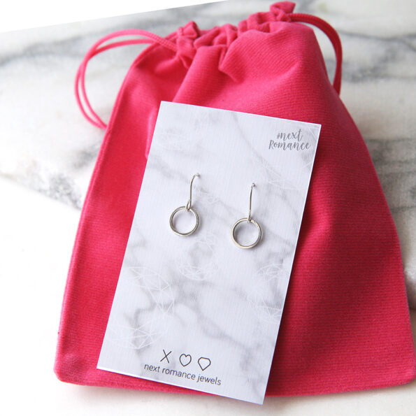 mini loop hoop earrings silver modern next romance jewellery