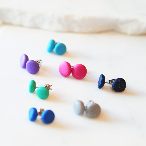 lots of studs earrings polymer clay next romance jewellery australia finders keepers marketplace
