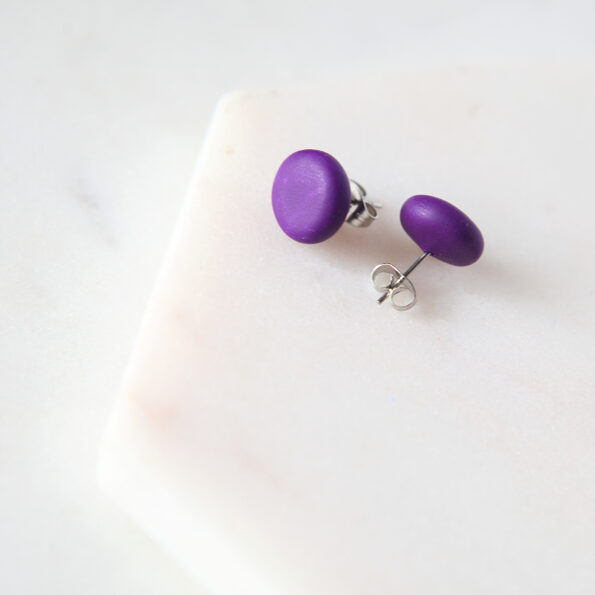 plum studs polymer clay next romance jewellery australia finders keepers marketplace