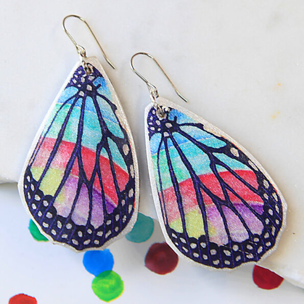 rainbow butterfly earrings NEXT ROMANCE jewellery made in australia 2020