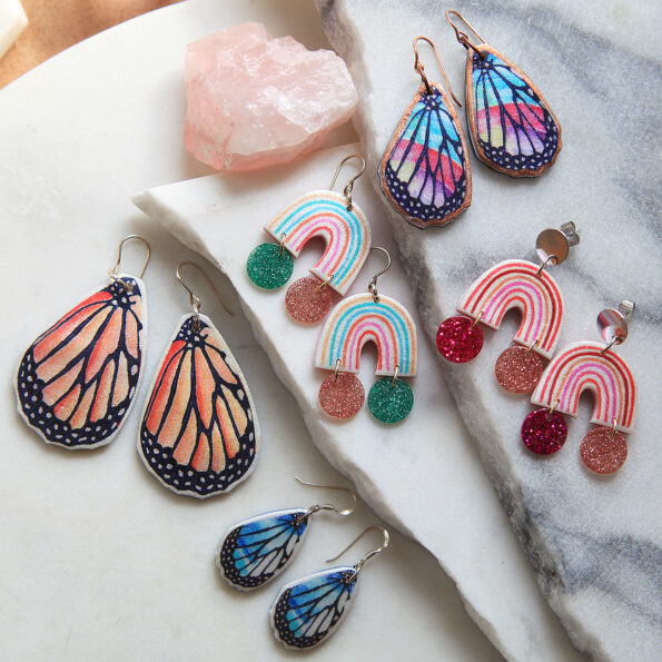 rainbows and butterflies new next romance jewellery australia vicki leigh silver fun funky unique