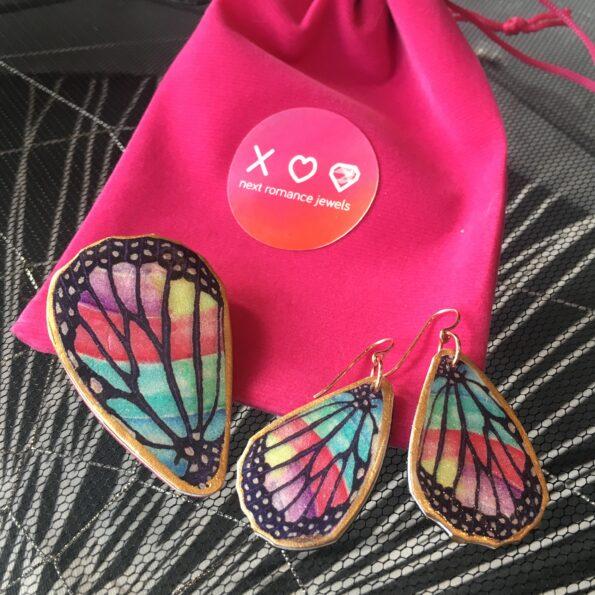 rose gold rainbow butterfly wings next romance unique funky jewellery melbourne australia sydney brisbane perth