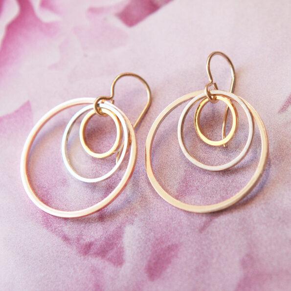 triple gold hoops MODERN next romance