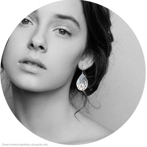 filigree silver cutout light unique earrings next romance jewellery australia