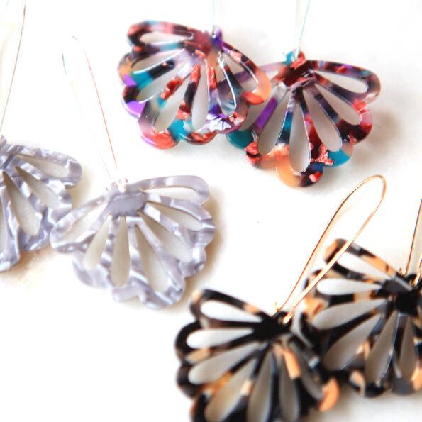 butterfly earrings long drop colourful new next romance jewellery australian all