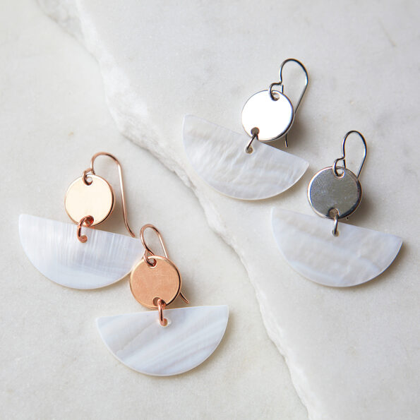 half moon shell and coin rose gold earrings next romance jewellery.jpg