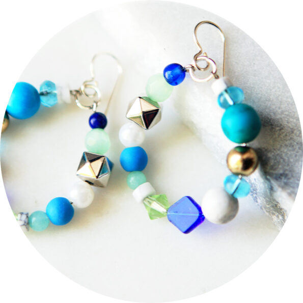 bead hoop blue new next romance iso earrings 2020