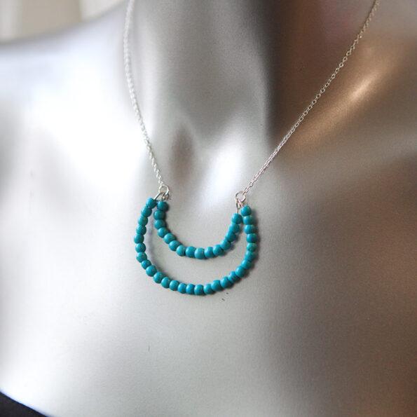 gemstone moon bead necklace next romance jewellery australia