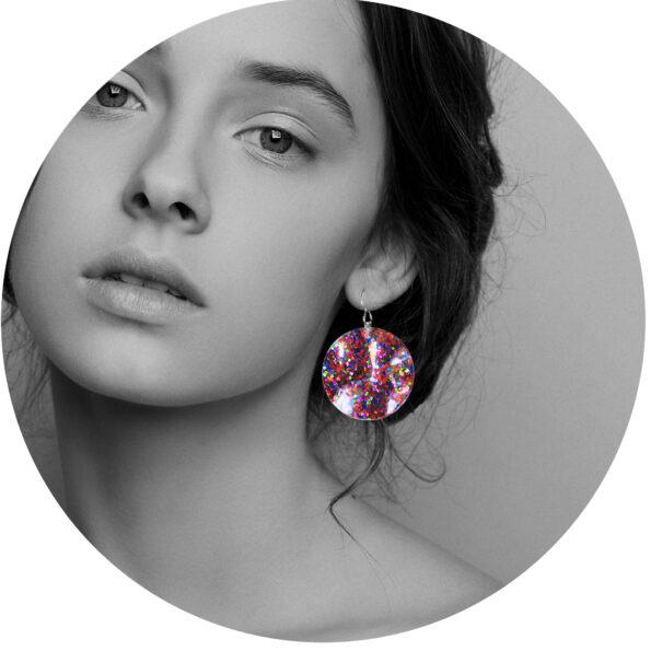 earring hook wavy multi confetti glitter unique earrings next romance jewellery australia