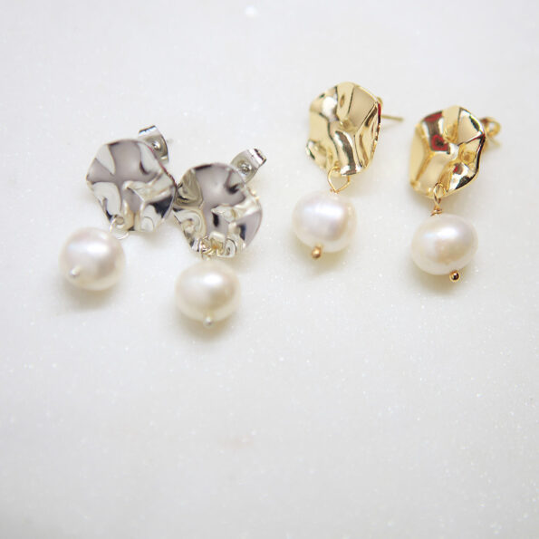 wave pearl earrings stud new next romance jewels jewellery australia