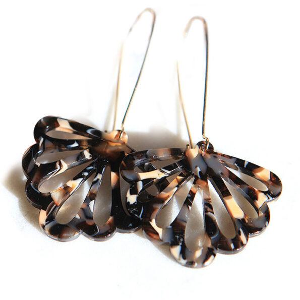 black cream butterfly dangley earrings fun party next romance new jewellery
