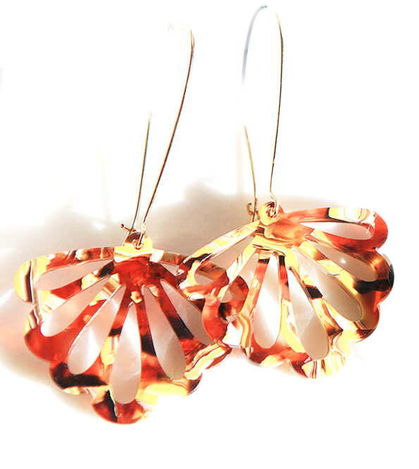 golden butterflies dangle long drop earrings new next romance jewellery melbourne australian made handmade