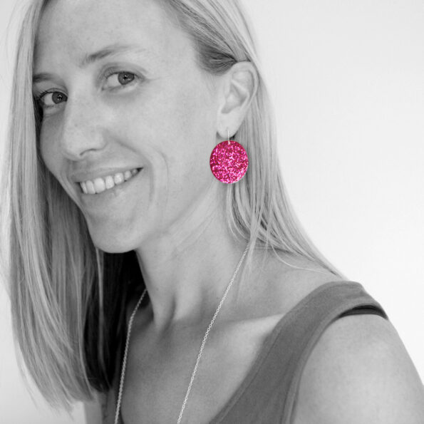 midi colourful resin earrings drop dangle silver gold unique next romance jewellery handmade in australia