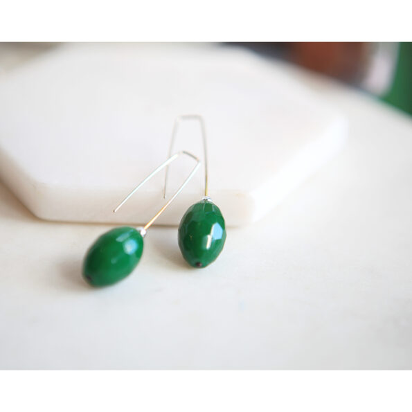 green faceted emerald raw stone on sterling silver n ew next romance gemstone earrings australia sterling