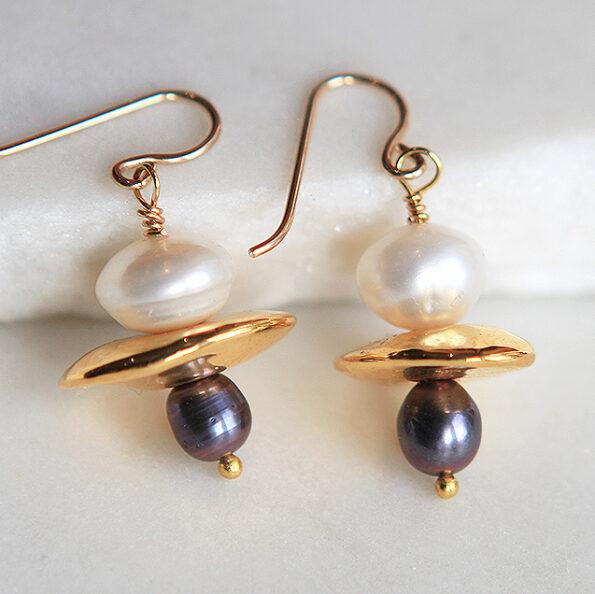new pearl gold small pearl galaxy earrings next romance jewellery australia