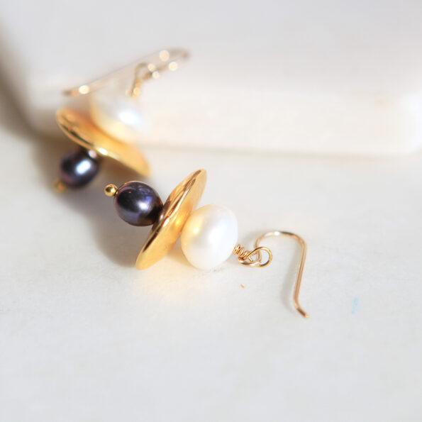 small gold pearl galaxy earrings next romance jewellery australia
