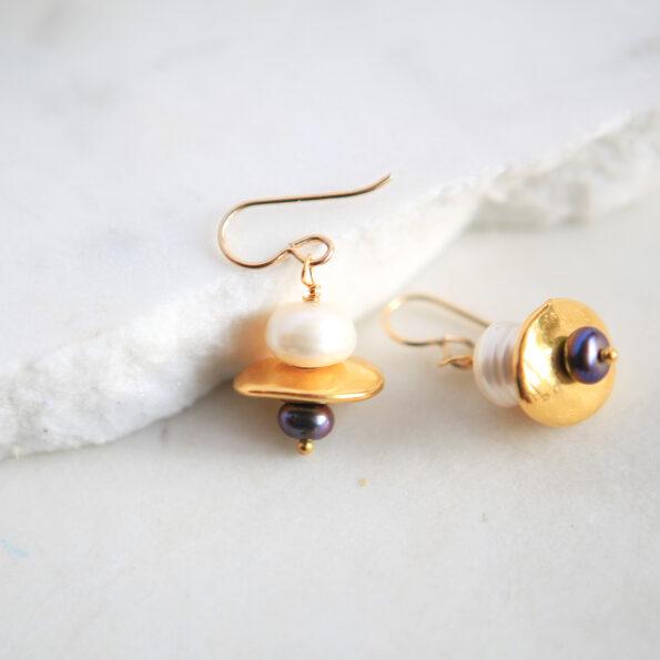 new pearl golden small pearl galaxy earrings next romance jewellery australia
