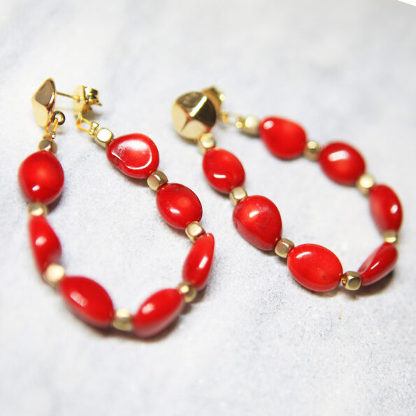 red coral back butterfly attachment hoop new next romance jewellery channel ten TV celebrity