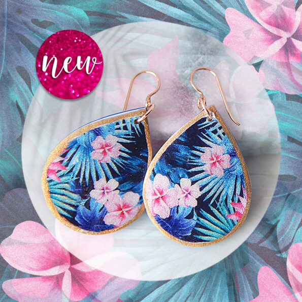 next romance jewellery frangipani tropical art earrings unique handmade in melbourne australia make it collective finders keepers markets virtual market online new artisan handmade in australia