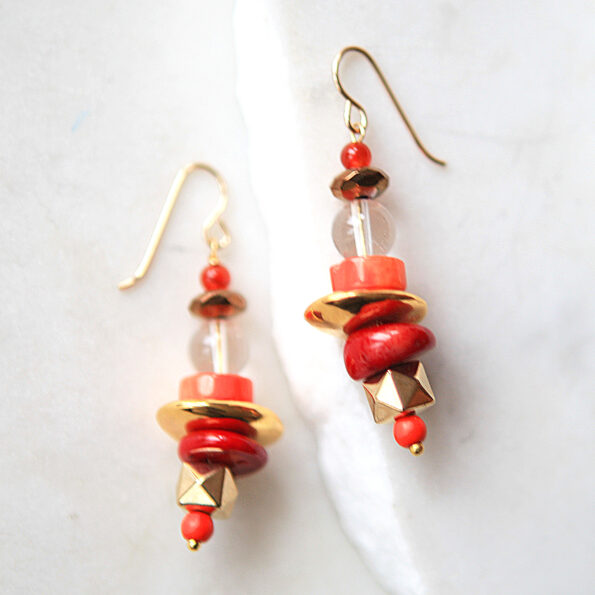 gold coral galaxy earrings hooks new next romance jewellery finders keepers market rose street artist handmade