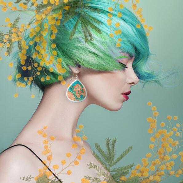 wattle mint green earrings new next romance jewellery unique art styles australia
