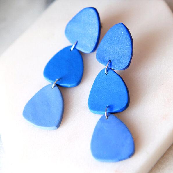 triple triangle blue colour jewellery next romance melbourne