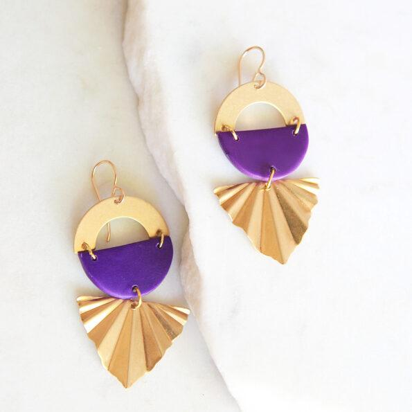 atomic art deco style earrings modern next romance colour clay australia