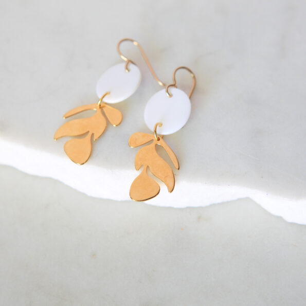 gold leaf earrings cutout new bt next romance jewellery melbourne unique handmade