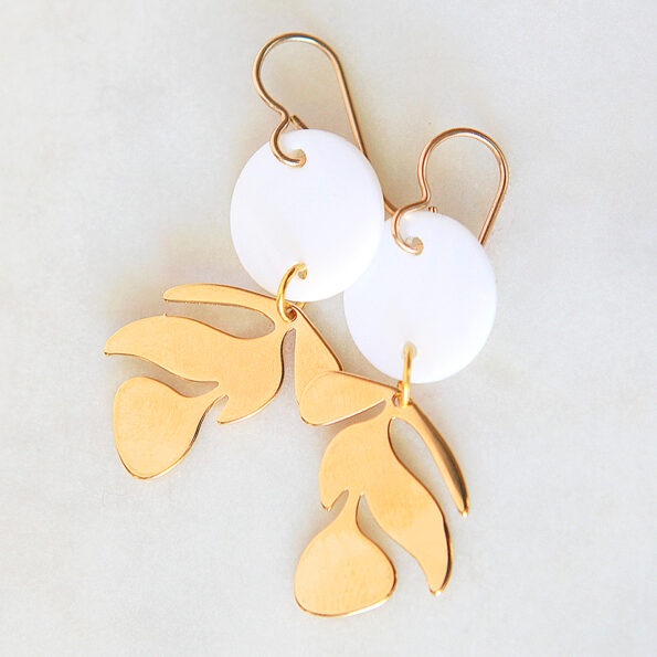 gold mini leaf cutout brass new next romance jewellery gifts melbourne